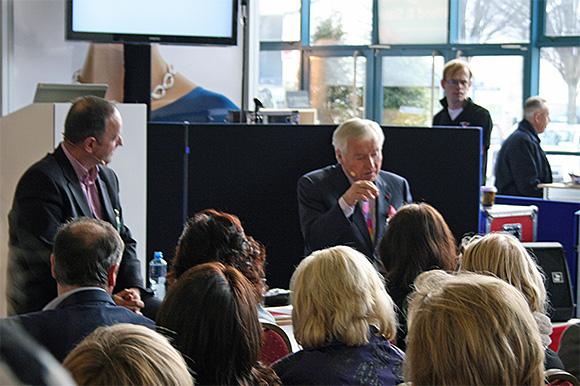 Senator Fergal Quinn in conversation with James Burke