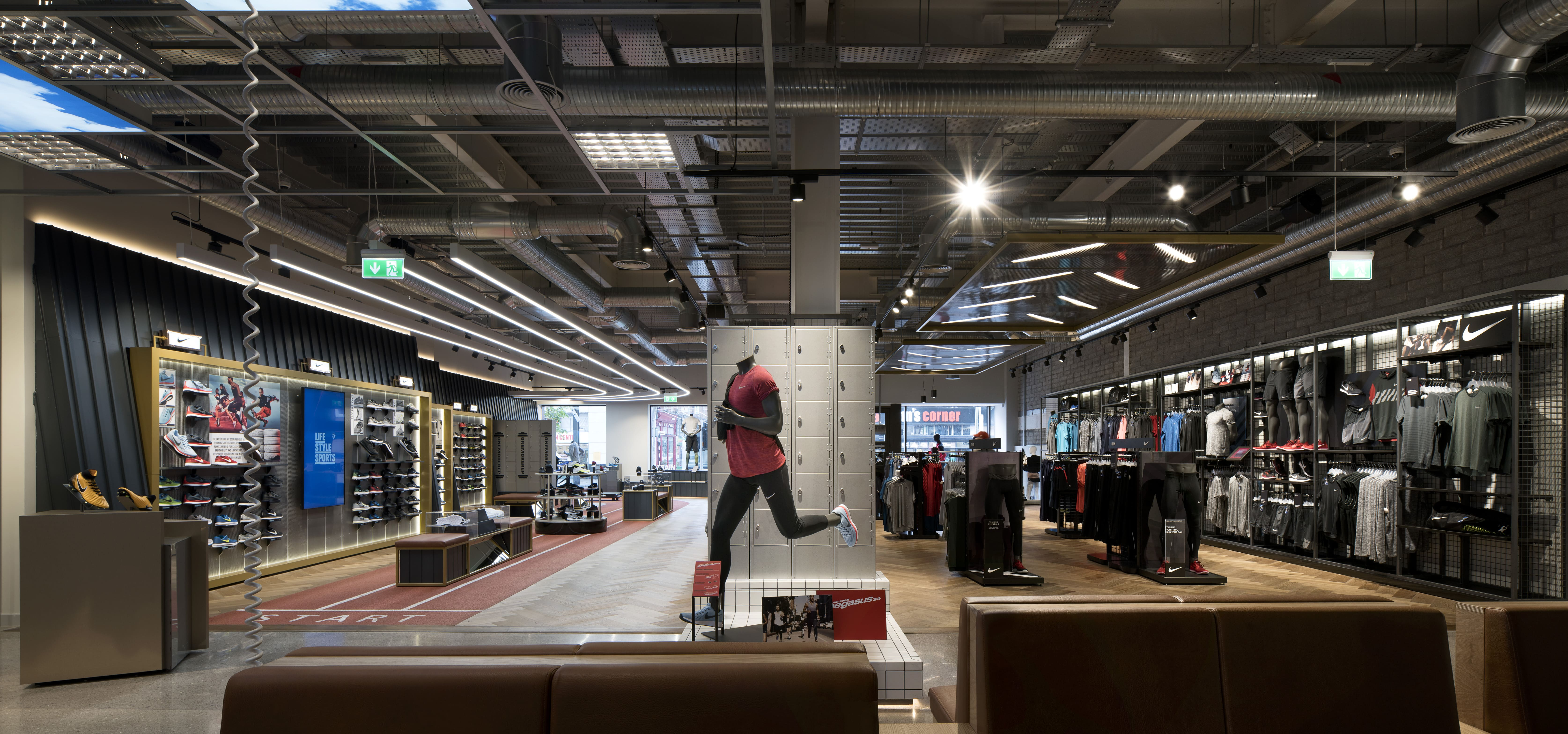 Life Style Sports Boot Room Store Design